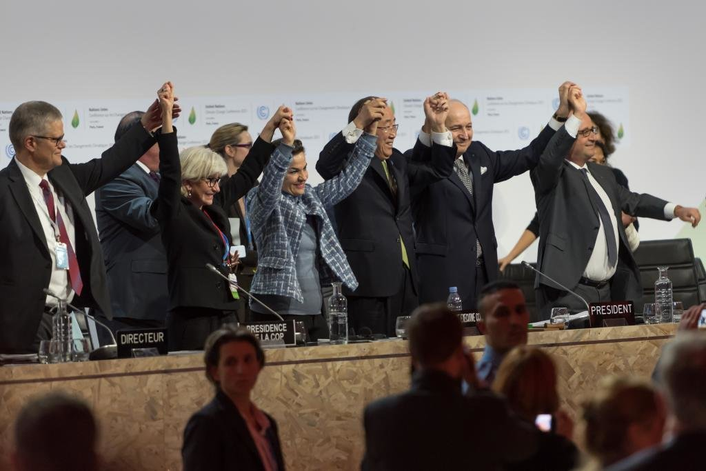 FRANCE, Paris: World leaders reached a climate agreement on December 12, 2015, in Paris.The COP21 pact aims to curb global warming to less than 2C (3.6F) by the end of the century. Almost 200 countries took part in negotiations in the French capital